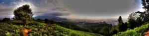 بام سبز لاهیجان در بالای شیطان کوه لاهیجان